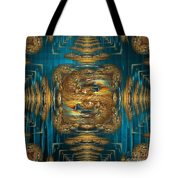 Tote Bag featuring the digital art Coherence - Abstract Art By Giada Rossi by Giada Rossi