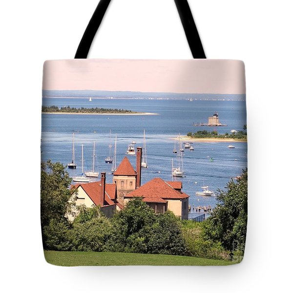 Tote Bag featuring the photograph Coindre Hall Boathouse by Ed Weidman