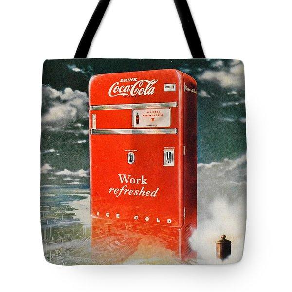 Coke - Coca Cola Vintage Advert Tote Bag by Georgia Fowler