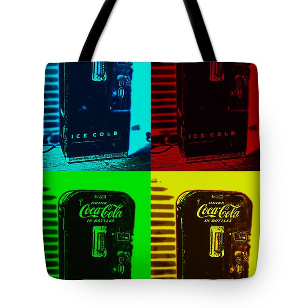 Coke Poster Tote Bag by Kevin Fortier