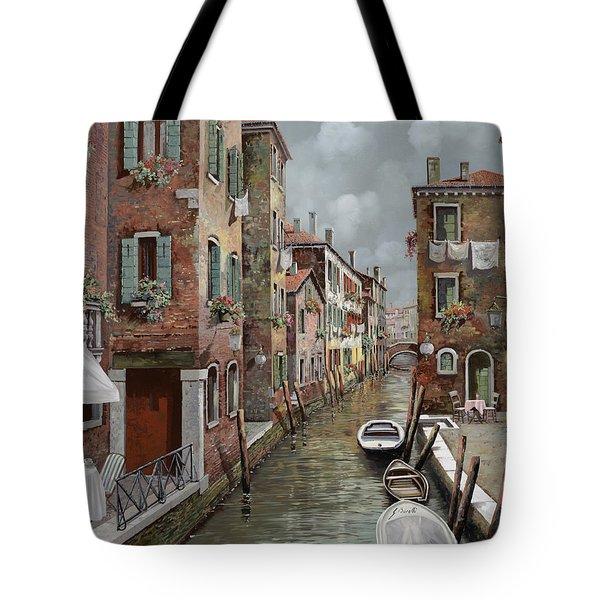 colazione a Venezia Tote Bag by Guido Borelli