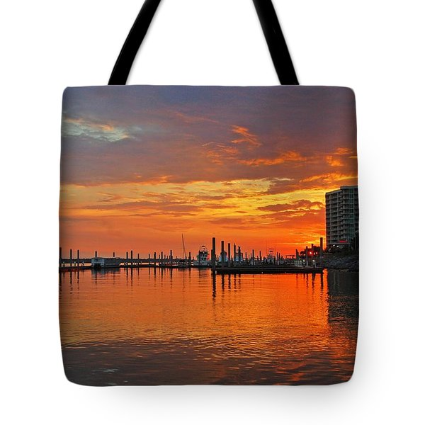 Tote Bag featuring the digital art Colbalt Morning by Michael Thomas