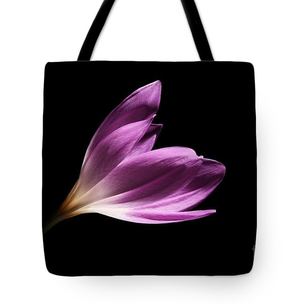 Tote Bag featuring the photograph Colchicum  by Judy Whitton