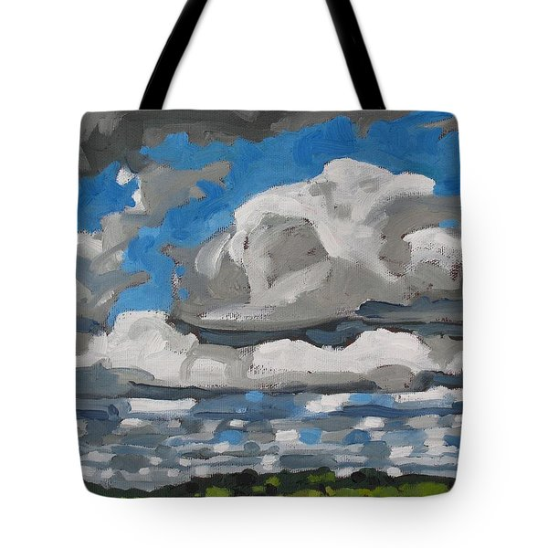 Cold Air Mass Cumulus Tote Bag by Phil Chadwick