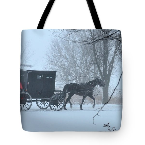 Cold Amish Morning Tote Bag