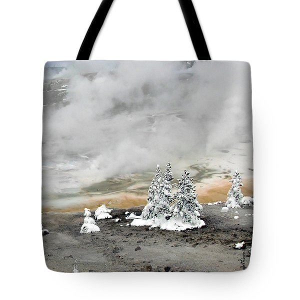 Cold And Hot Trees Tote Bag