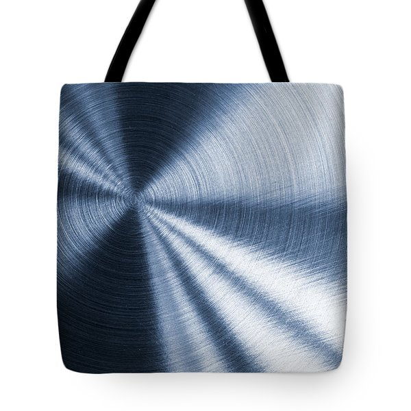 Cold Blue Metallic Texture Tote Bag