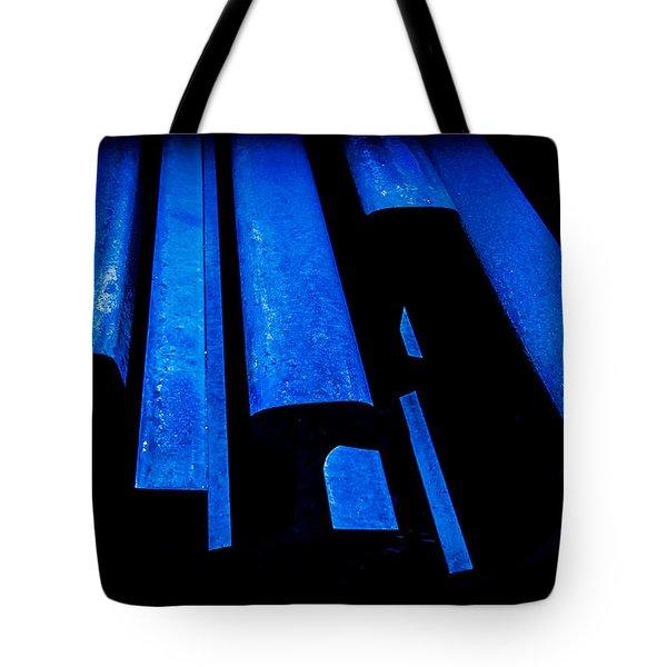 Cold Blue Steel Tote Bag by Steven Milner