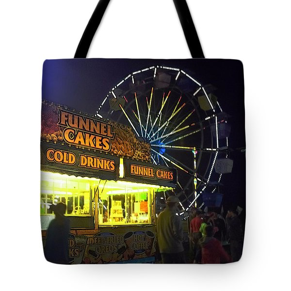 Cold Drink And Funnel Cakes Tote Bag