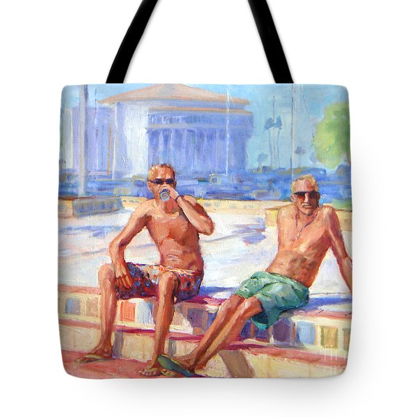 Cold Drink On A Hot Day Tote Bag