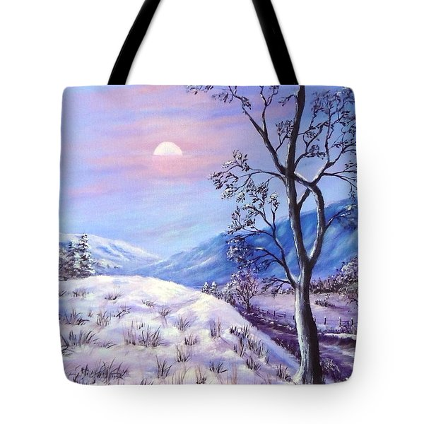 Cold Evening Tote Bag