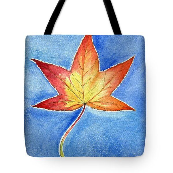 Cold Fall Sky Tote Bag by Katherine Miller