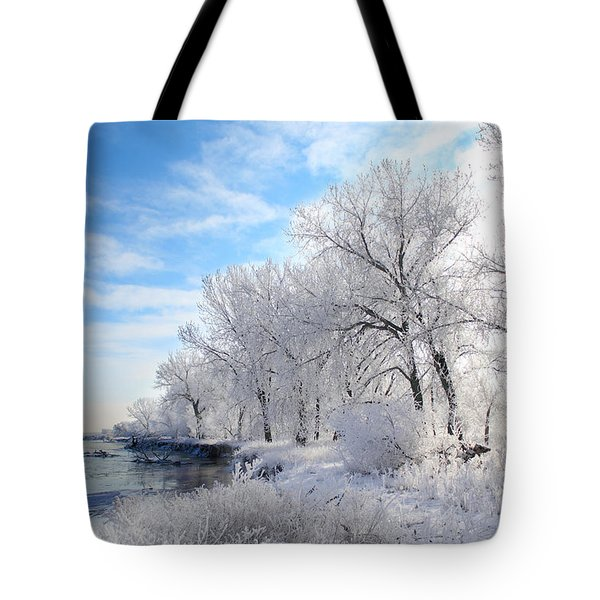 Cold Frosty Morning Tote Bag