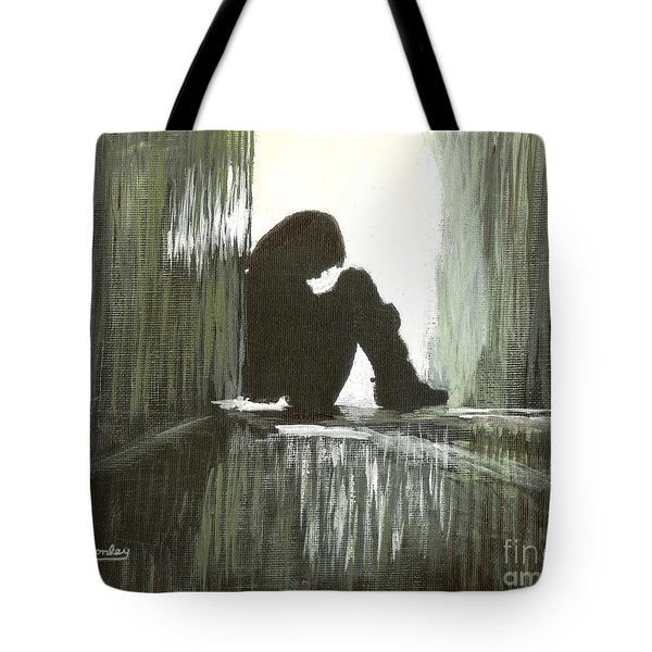 Tote Bag featuring the painting Cold Light Of Day by Ian Donley