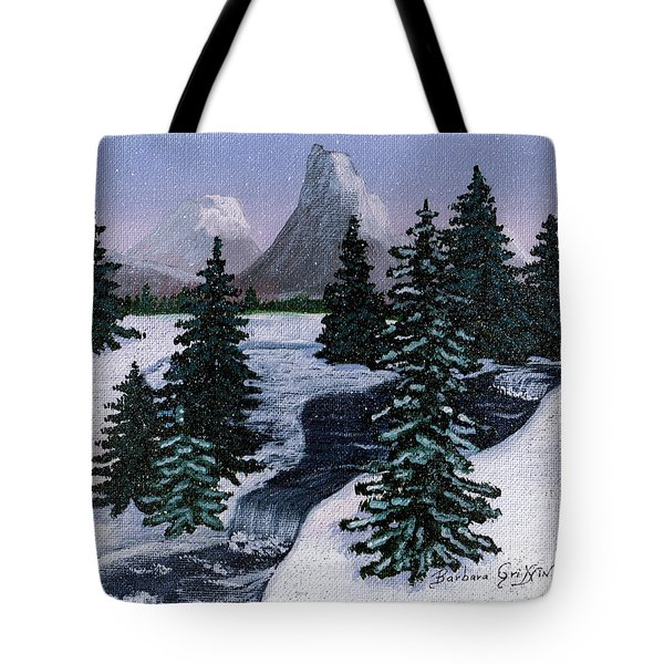 Cold Mountain Brook Tote Bag by Barbara Griffin