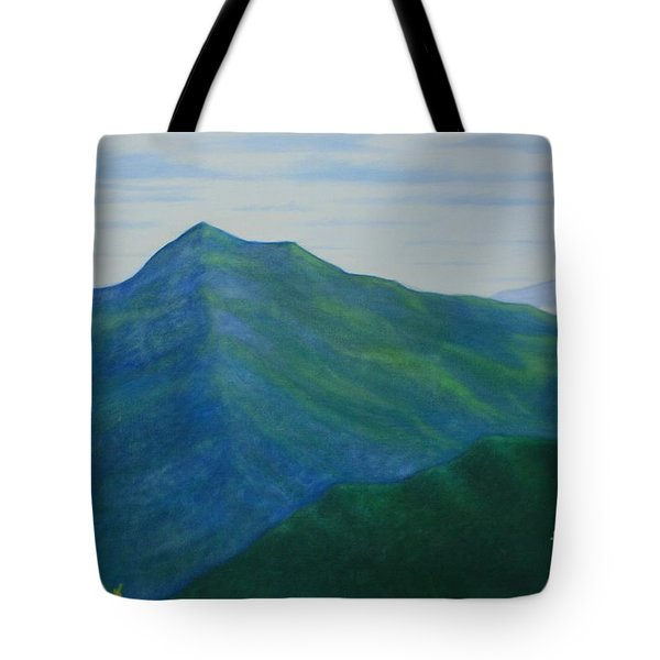 Tote Bag featuring the painting Cold Mountain by Stacy C Bottoms