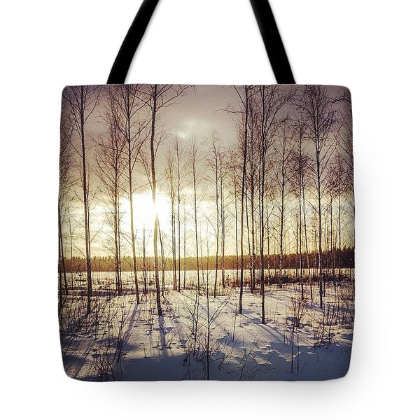Cold 'n' Golden Tote Bag