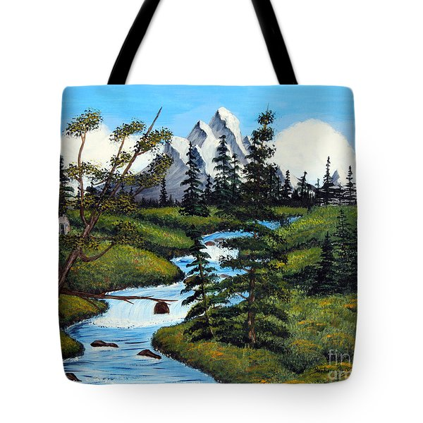 Cold Rattling Brook  Tote Bag by Barbara Griffin