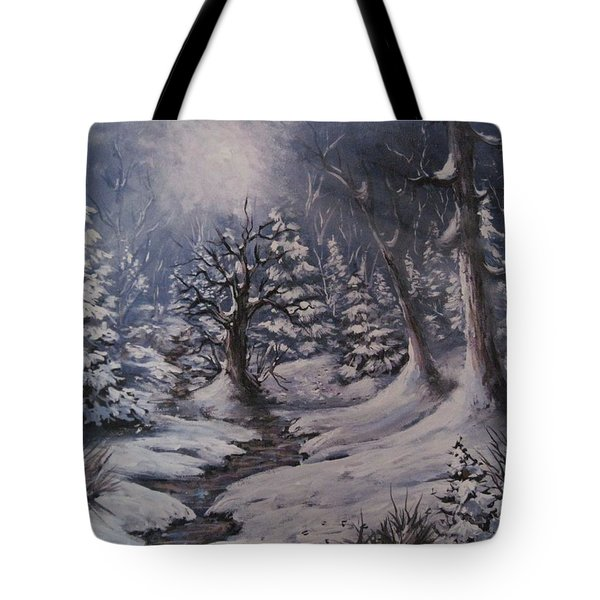 Cold Snap Tote Bag by Megan Walsh