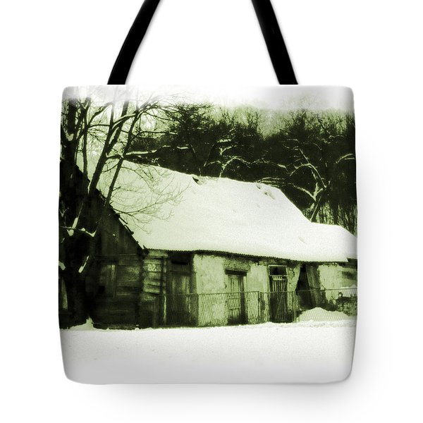 Tote Bag featuring the photograph Countryside Winter Scene by Nina Ficur Feenan