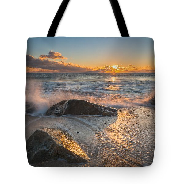 Cold Sunrise Tote Bag