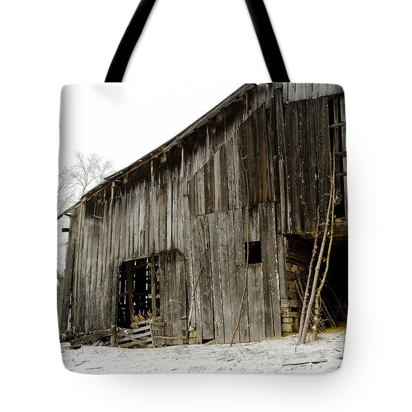 Cold Winter At The Barn  Tote Bag by Wilma  Birdwell
