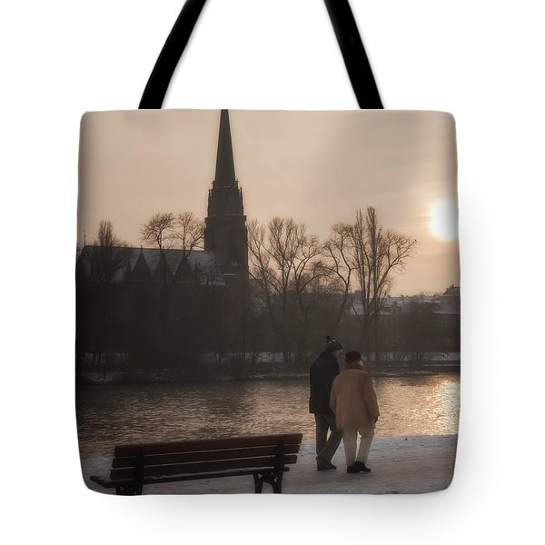 Cold Winter Light Tote Bag by Joan Carroll