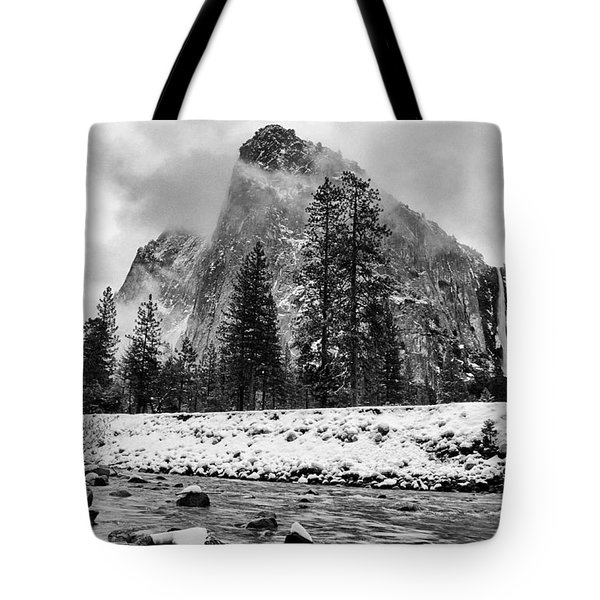 Cold Winter Morning Tote Bag by Cat Connor