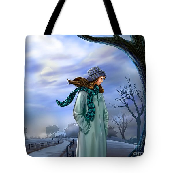 Cold Winter Warm Thoughts Tote Bag