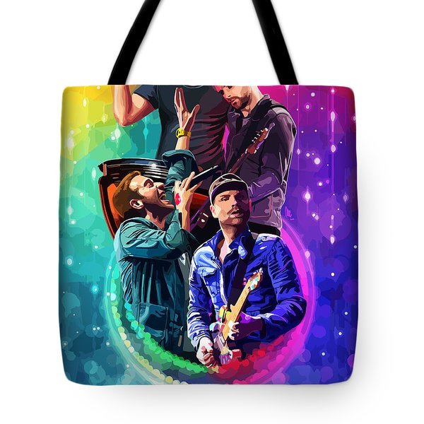 Coldplay Mylo Xyloto Tote Bag by FHT Designs