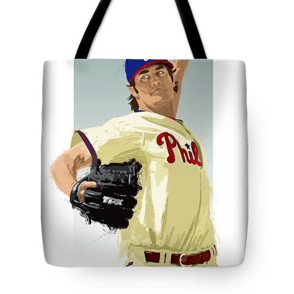 Cole Hamels Tote Bag by Scott Weigner