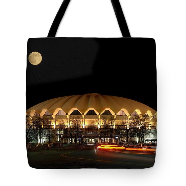 Coliseum Night With Full Moon Tote Bag by Dan Friend