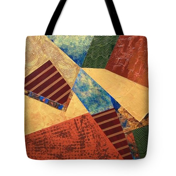 Tote Bag featuring the painting Collaboration by Linda Bailey