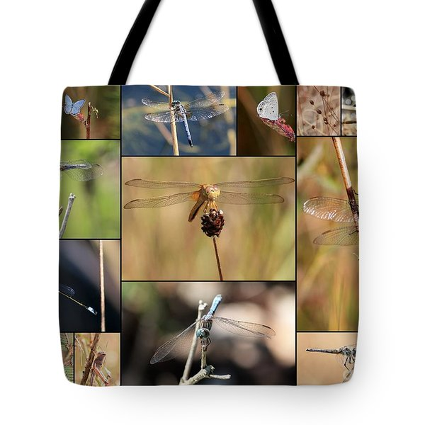 Collage Marsh Life Tote Bag by Carol Groenen