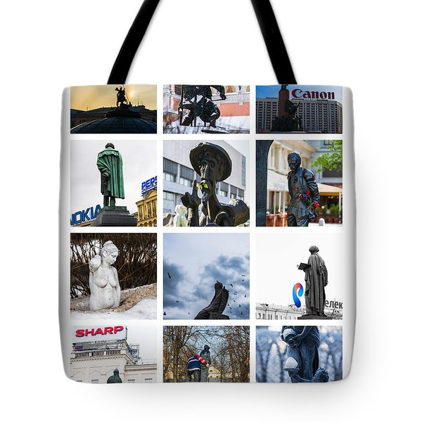 Collage - Moscow Monuments - Featured 3 Tote Bag by Alexander Senin