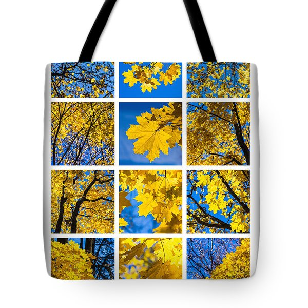 Collage October Blues Tote Bag by Alexander Senin