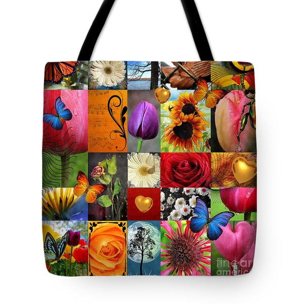 Collage Of Happiness  Tote Bag by Mark Ashkenazi