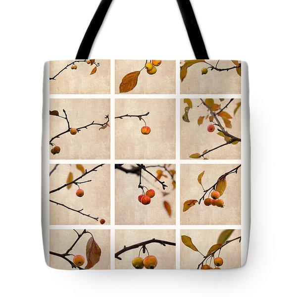 Collage Paradise Apple Tote Bag by Alexander Senin