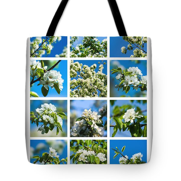 Collage Spring Blossoms 1 Tote Bag by Alexander Senin