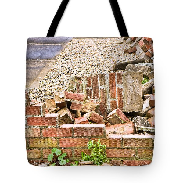 Collapsed Brick Wall Tote Bag
