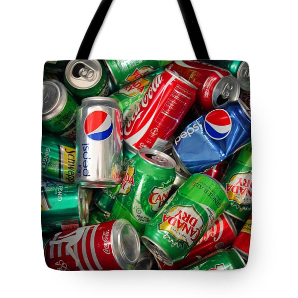 Collection Of Cans 02 Tote Bag by Andy Lawless