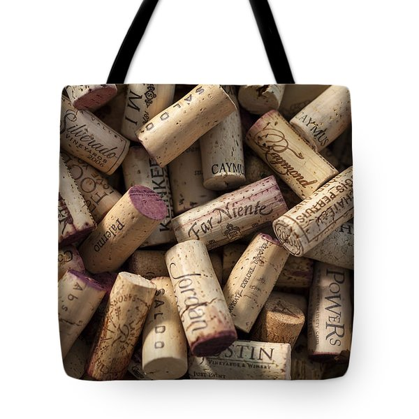 Collection Of Fine Wine Corks Tote Bag by Adam Romanowicz
