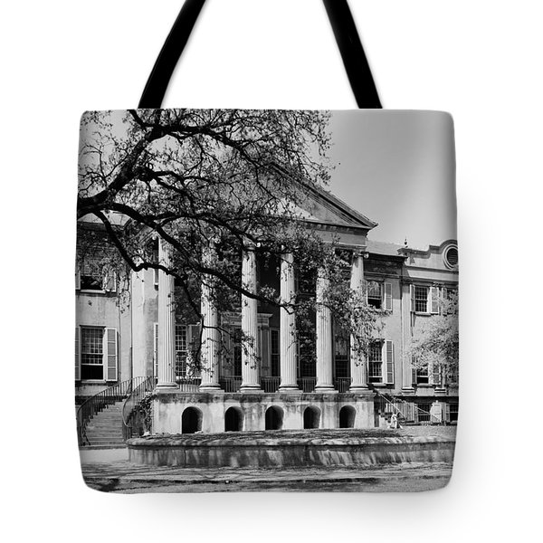 College Of Charleston Main Building 1940 Tote Bag