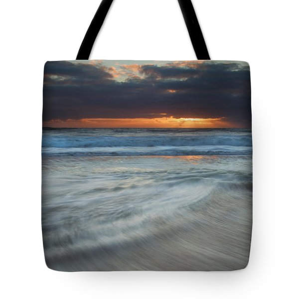 Colliding Tides Tote Bag by Mike  Dawson