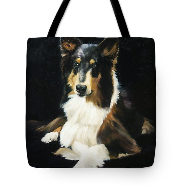 Collie Tote Bag by Alice Leggett