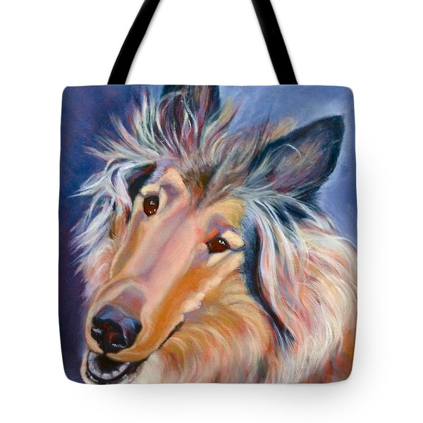 Collie Star Tote Bag