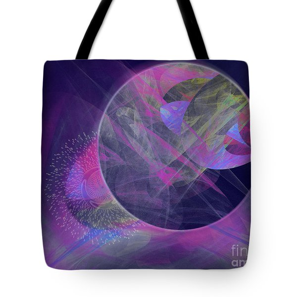 Tote Bag featuring the digital art Collision by Victoria Harrington