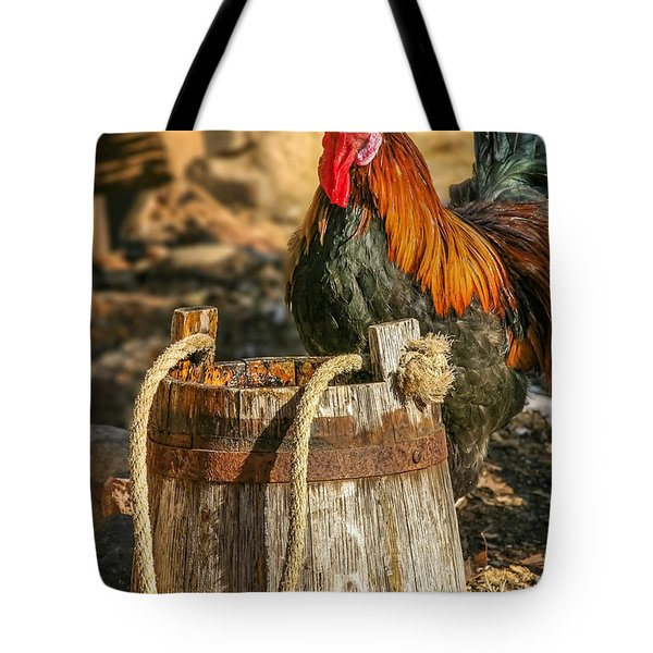Coloful Rooster 2 Tote Bag