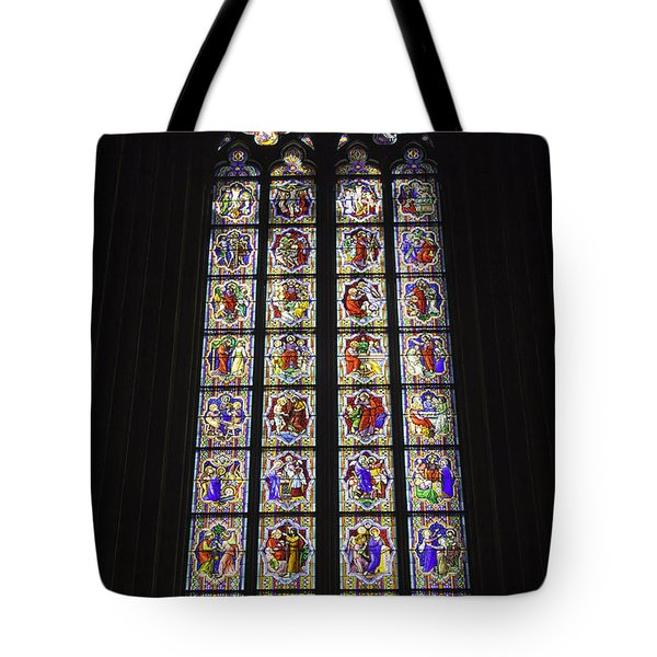 Cologne Cathedral Stained Glass Life Of Christ Tote Bag