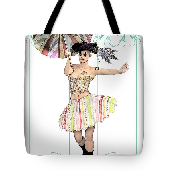 Columbine Pirate Girl Tote Bag